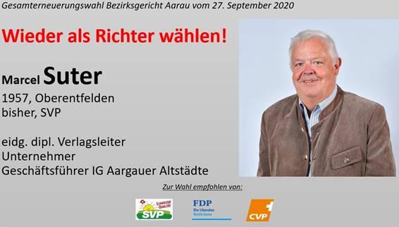 Marcel Suter wieder als Bezirksrichter!